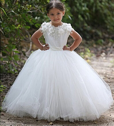 Little Girls Wedding Dresses, Flower Girls Dresses, 2015 Ball Gown ...
