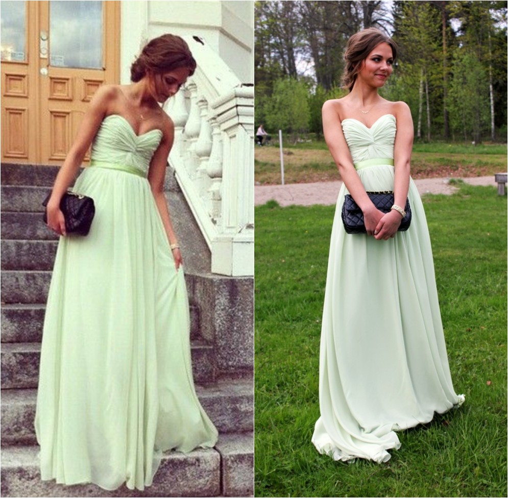 Wedding Long Formal Dress mint green prom dress chiffon dresses long 2016 formal party dresses