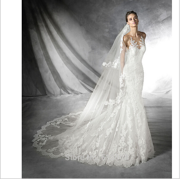 2016 Lace Mermaid Wedding Dress Elegant Wedding Dress Wedding Gowns Cheap Bridal Dresses