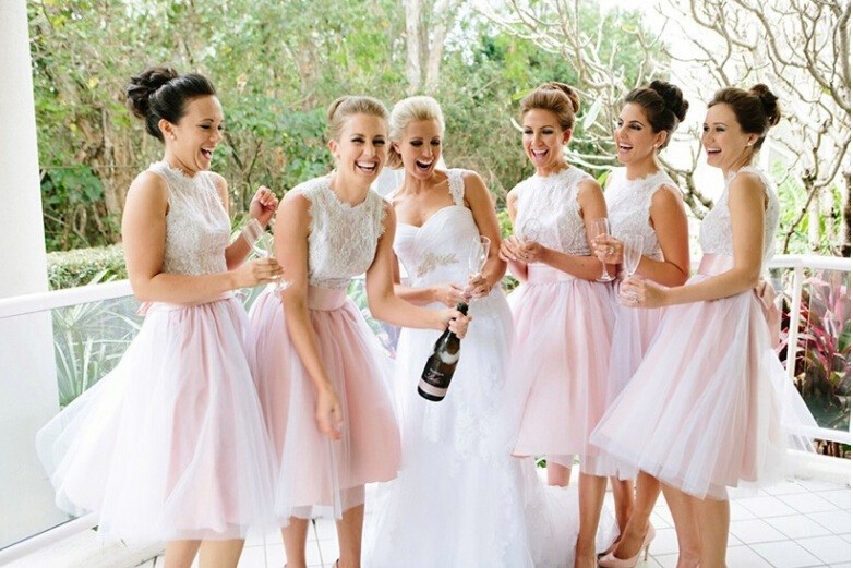 pink bridesmaid dress wedding party dresses cute bridesmaid dresses