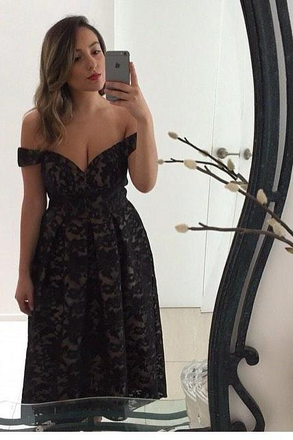 Short Prom Dress, Off the Shoulder Prom Dress, Black Prom Dress, Lace Prom Dress, A Line Prom Dress, Cheap Prom Dress, Deep V Neck Prom Dress, Vintage Prom Dress, Prom Dresses 2017, Cheap Graduation Dress,