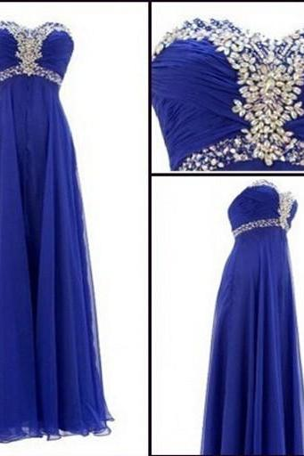 Long Bridesmaid Dress, Royal Blue Bridesmaid Dress, Elegant Bridesmaid Dress, Sparkly Bridesmaid Dress, Chiffon Bridesmaid Dress, Wedding Party Dress, Bridesmaid Dresses For Girls, Cheap Bridesmaid Dress, Bridesmaid Dresses 2016