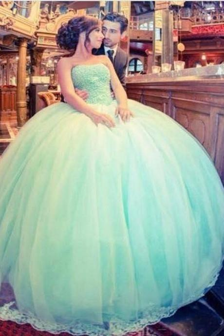 Light Green Wedding Dress, Crystals Wedding Ball Gowns, Princesa Wedding Dress, Luxury Wedding Dress, Wedding Dresses 2017, Gorgeous Wedding Dress, Bridal Ball Gown